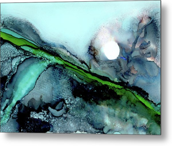Metal Print featuring the painting Moondance II by Kathryn Riley Parker
