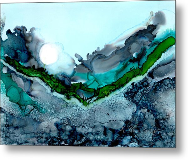 Metal Print featuring the painting Moondance IIi by Kathryn Riley Parker