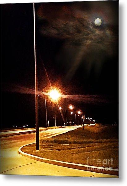 Moonlight Walk Metal Print