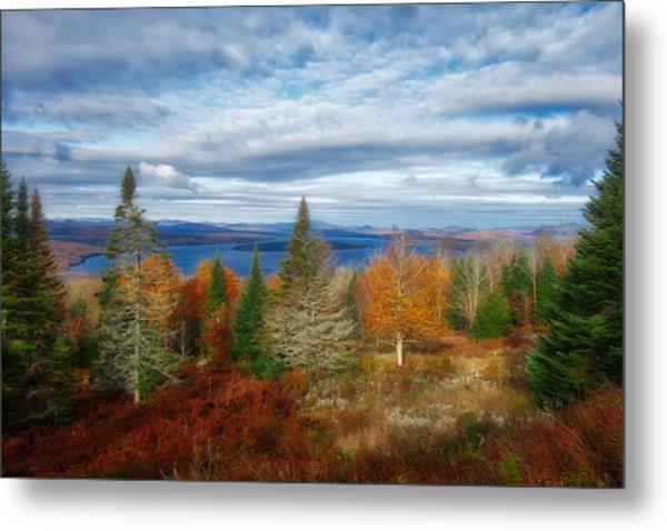 Mooselookmeguntic Lake Fall Colors Metal Print