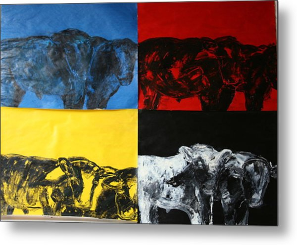 Mooving Out Of Our Land Metal Print