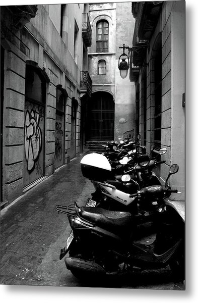 Metal Print featuring the photograph Moped by Edward Lee