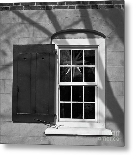 Metal Print featuring the photograph Moravian Window by Patrick M Lynch