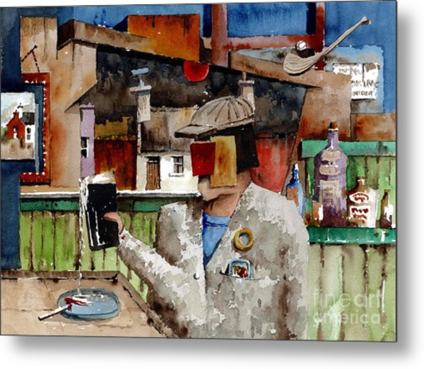 Metal Print featuring the painting More Thro The Window On The World by Val Byrne