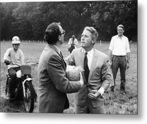 Morecambe And Wise Metal Print by Heritage Images