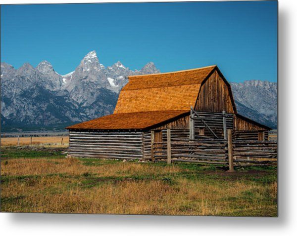Metal Print featuring the photograph Mormons Barn 3779 by Donald Brown