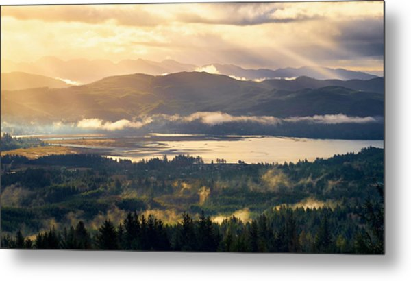 Metal Print featuring the photograph Morning Glory by Whitney Goodey
