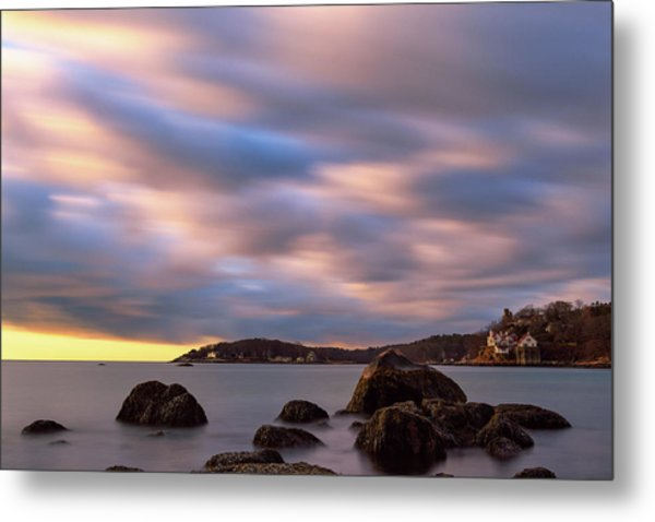 Metal Print featuring the photograph Morning Glow, Stage Fort Park. Gloucester Ma. by Michael Hubley