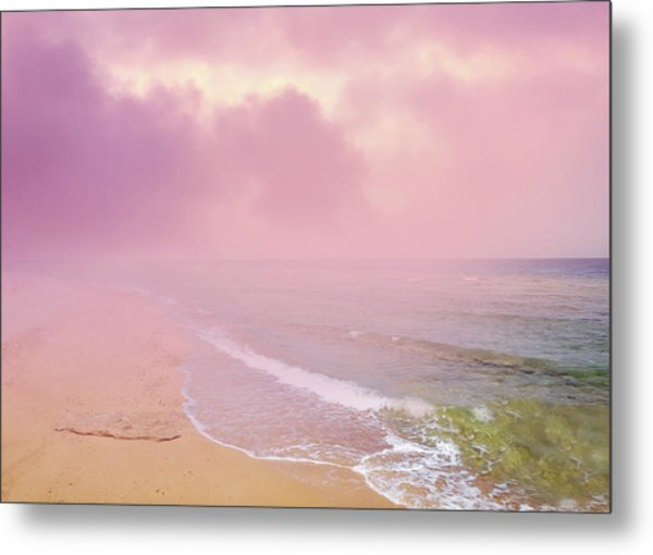 Morning Hour By The Seashore In Dreamland Metal Print