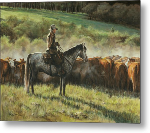 Morning In The Highwoods Metal Print