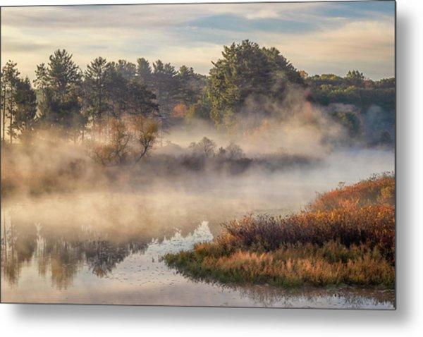 Morning Mist On The Sudbury River Metal Print