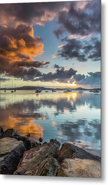 Morning Reflections Waterscape Metal Print