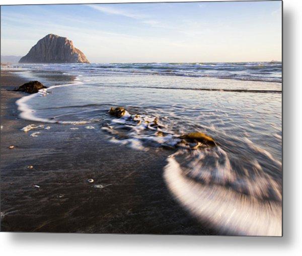 Morro Rock Ebb Tide Metal Print
