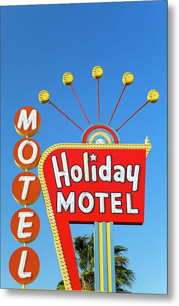 Motel Sign, The Strip, Las Vegas Metal Print