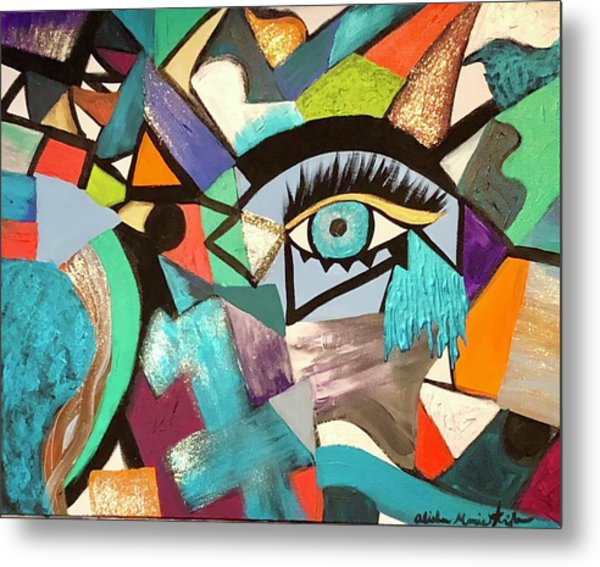Motley Eye 4 Metal Print