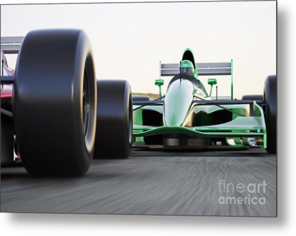 Motor Sports Race Car Competitive Close Metal Print