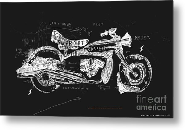 Motorcycle, Which Consists Of A Metal Print