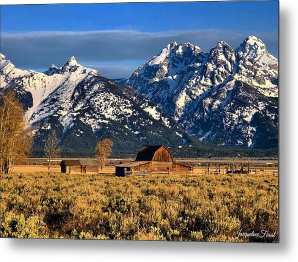 Moulton Barn Grand Tetons Metal Print