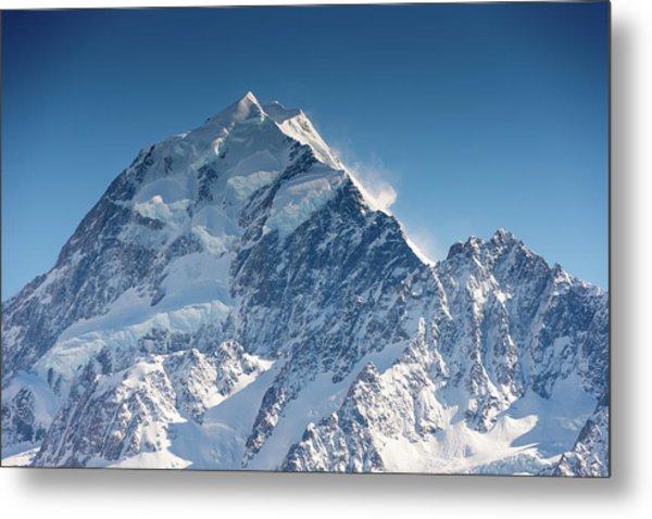Mount Cook Aoraki Summit Ridge Metal Print