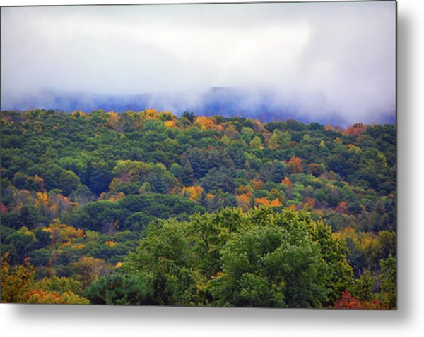 Metal Print featuring the photograph Mount Greylock In The Clouds by Raymond Salani III