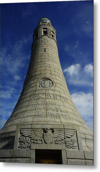 Metal Print featuring the photograph Mount Greylock Tower Up And Close 2 by Raymond Salani III