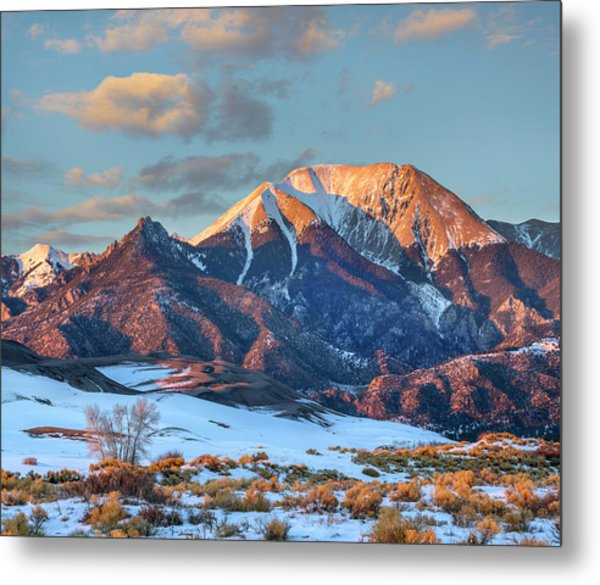 Mount Herard, Great Sand Dunes National Metal Print