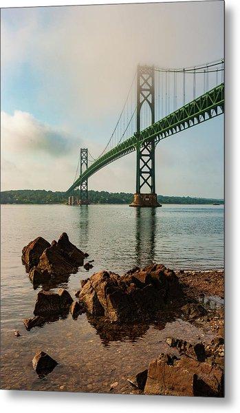 Metal Print featuring the photograph Mount Hope Bridge IIi Color by David Gordon