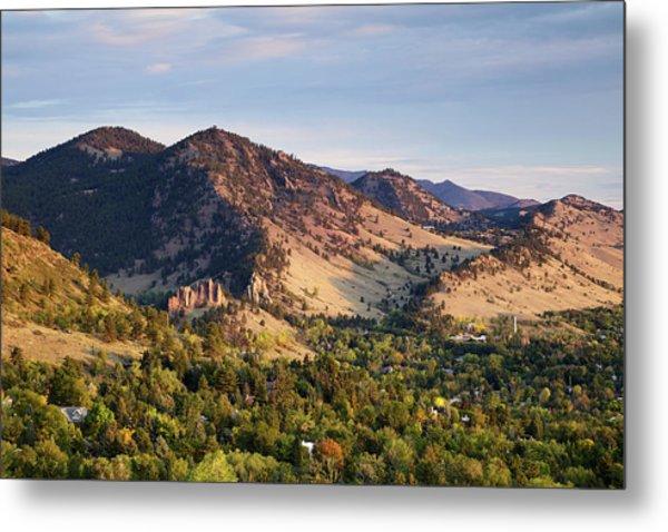 Mount Sanitas And Fall Colors In Metal Print