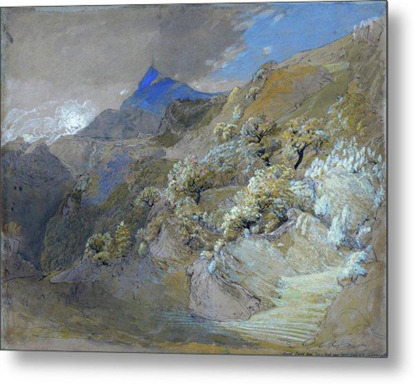 Mount Siabod From Tyn-y-coed Near Capel Curig - Digital Remastered Edition Metal Print