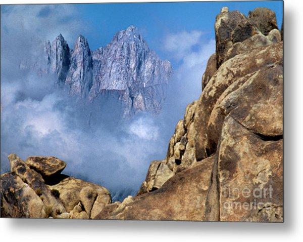 Mount Whitney Clearing Storm Eastern Sierras California Metal Print