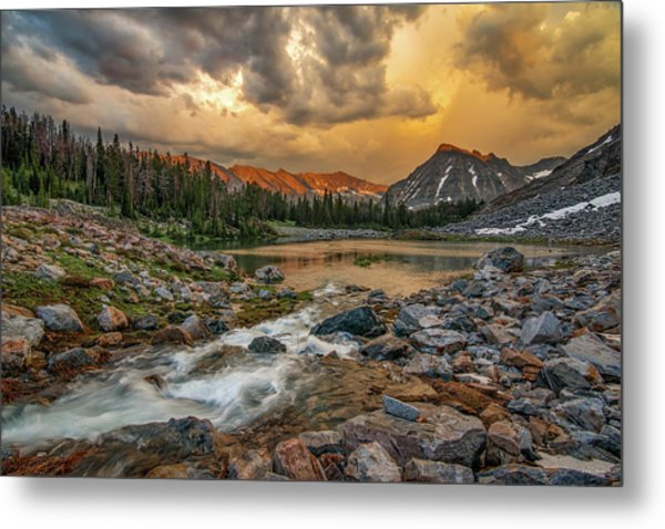 Mountain Glow Metal Print by Leland D Howard