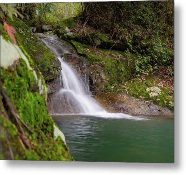 Metal Print featuring the photograph Mountain Waterfall II by William Dickman