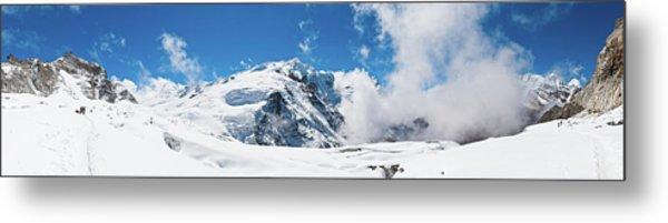 Mountaineers Climbing Snow Glacier Peak Metal Print
