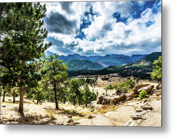 Metal Print featuring the photograph Mountains Across The Way by James L Bartlett