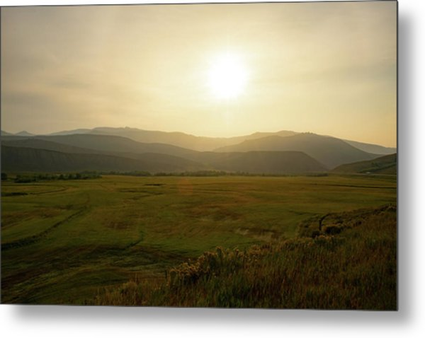 Mountains At Dawn Metal Print