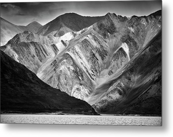 Metal Print featuring the photograph Mountains At Pangong by Whitney Goodey