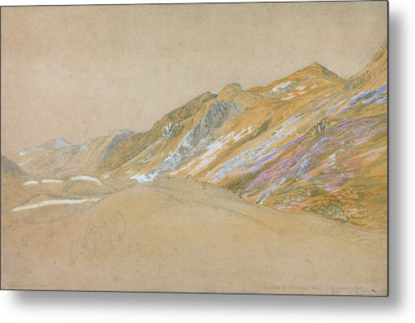 Mountains By The Traveller's Rest Near Dolgelly - Digital Remastered Edition Metal Print