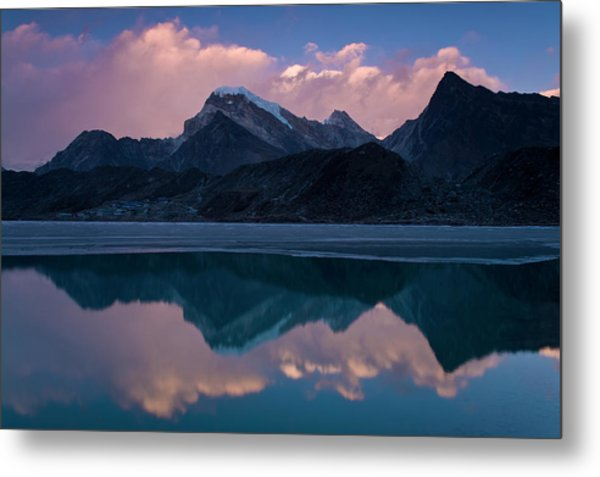 Mountains Reflected In Still Rural Lake Metal Print by Cultura Exclusive/ben Pipe Photography