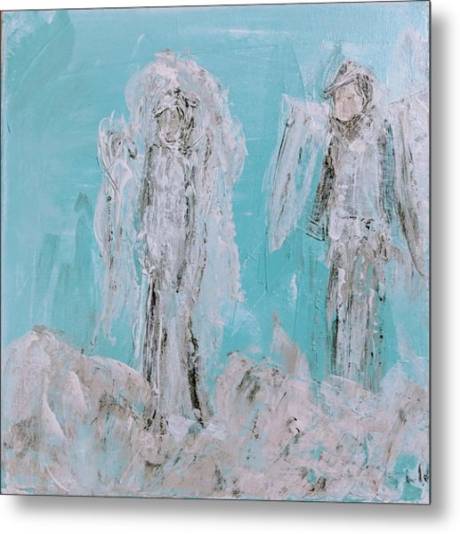 Mr And Mrs Angels Metal Print