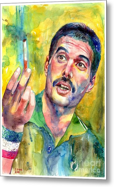 Mr Bad Guy - Freddie Mercury Portrait Metal Print