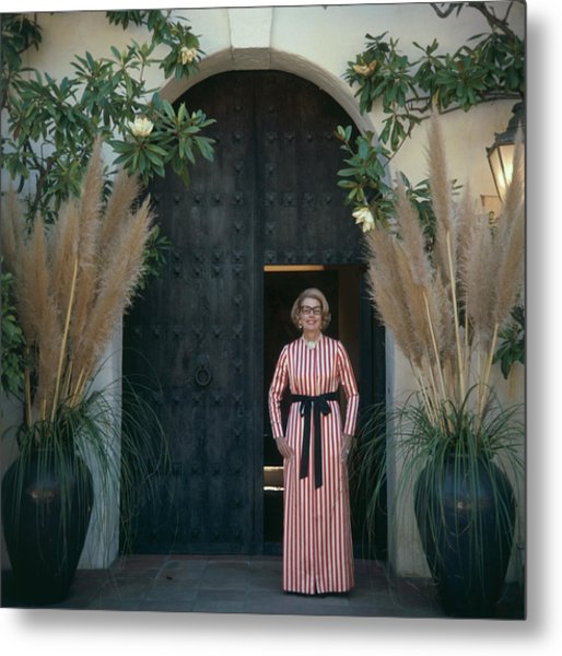 Mrs James Hoover Metal Print by Slim Aarons