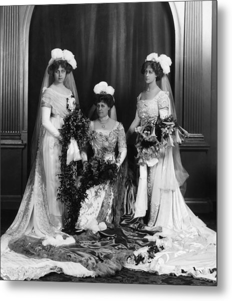 Mrs Lathams Wedding Metal Print by Hulton Archive