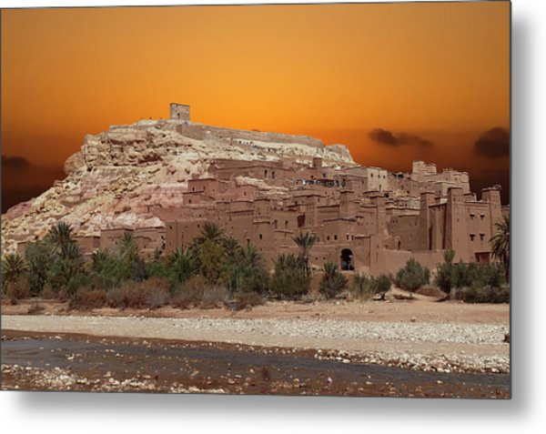 Mud Brick Buildings Of The Ait Ben Haddou Metal Print