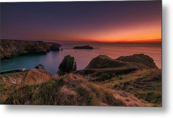 Mullion Cove - Sunset 2 Metal Print