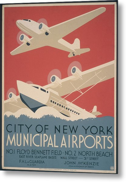 Municipal Airports Poster Metal Print by Fotosearch