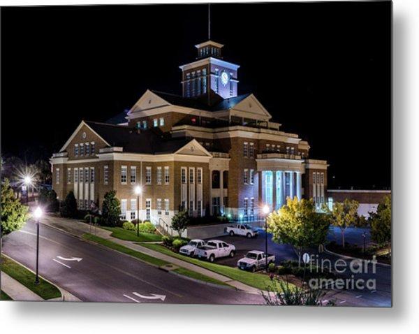 Municipal Center At Night - North Augusta Sc Metal Print