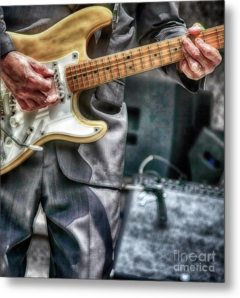 Music By The Neck  Metal Print by Steven Digman