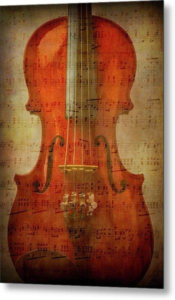 Musical Note Violin Metal Print