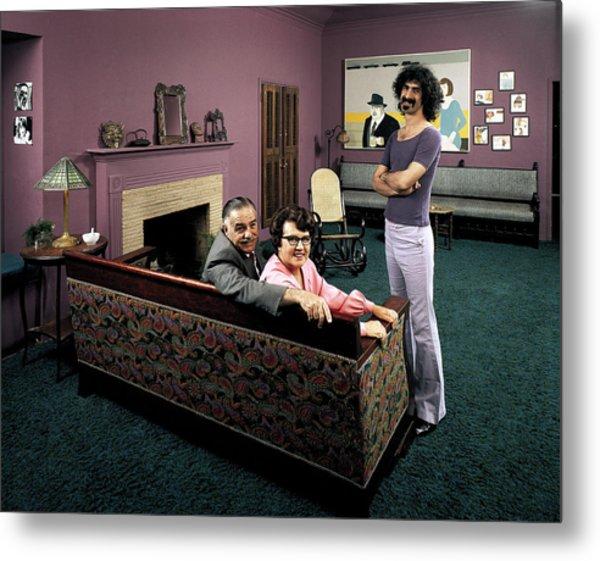 Musician Frank Zappa R W. Parents L-r Metal Print