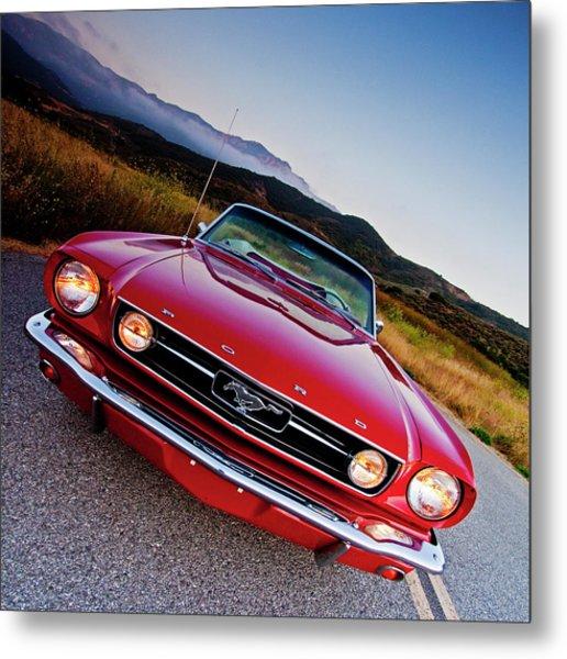 Mustang Convertible Metal Print